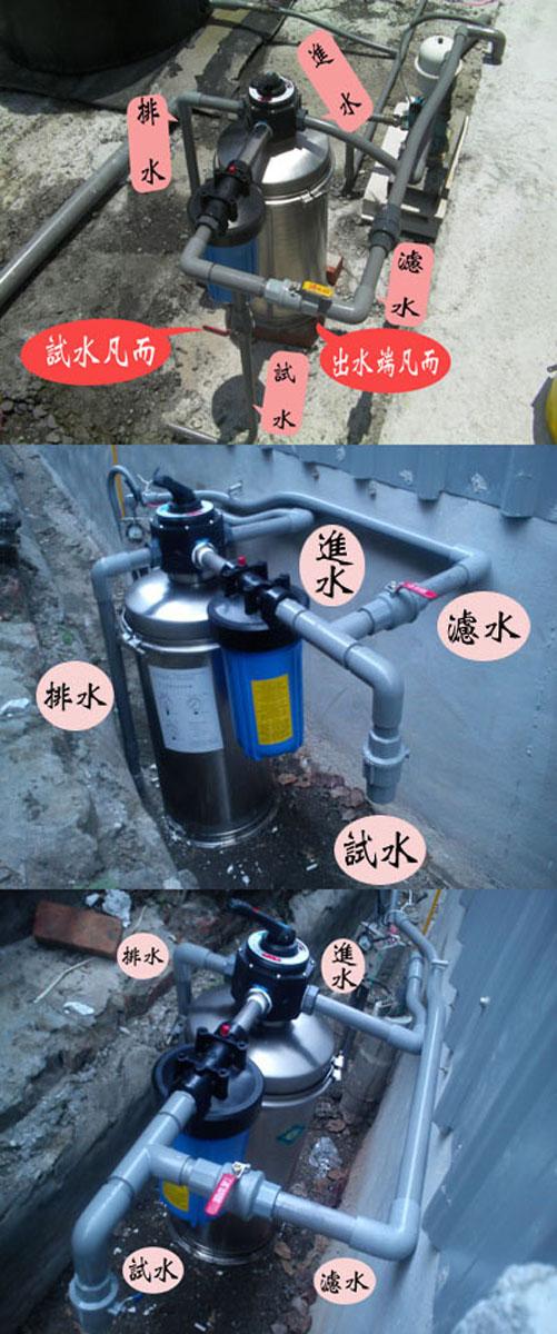 地下水過濾、泉水過濾、A1手動逆洗過濾機