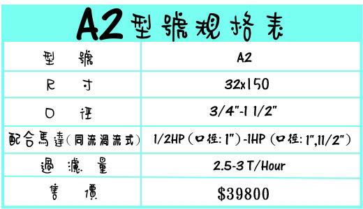 A2手動逆洗過濾機 地下水、泉水過濾器規格尺寸