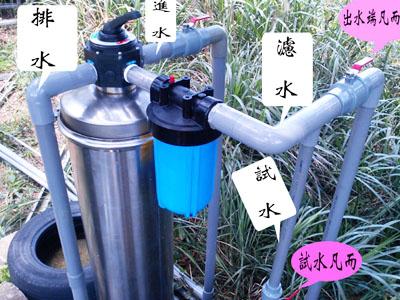 地下水過濾、泉水過濾、A2手動逆洗過濾機